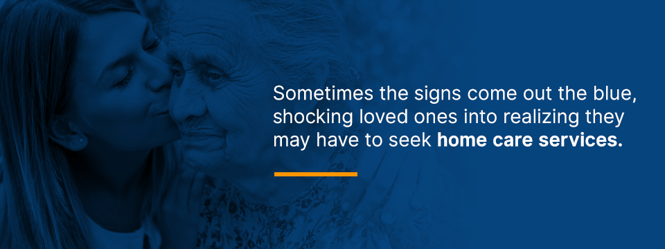 signs that you may need to seek senior home care services