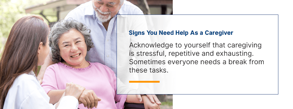signs you need help as a caregiver